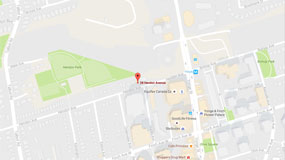 Click this map screenshot for Google maps directions to Fifth Church Toronto