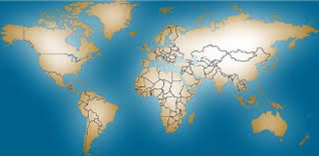 Global membership in Christian Science - global map image
