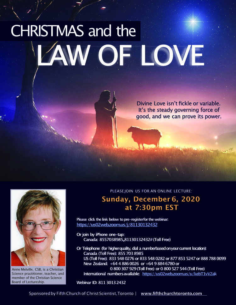 Anne Melville Lecture coming up in December 2020 with Fifth Church Toronto